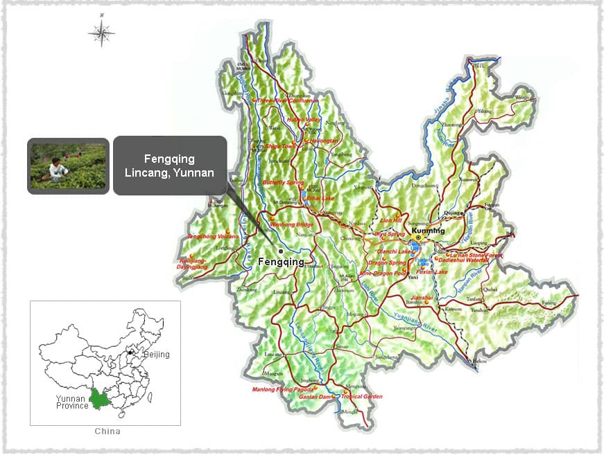 Map of Fengqing