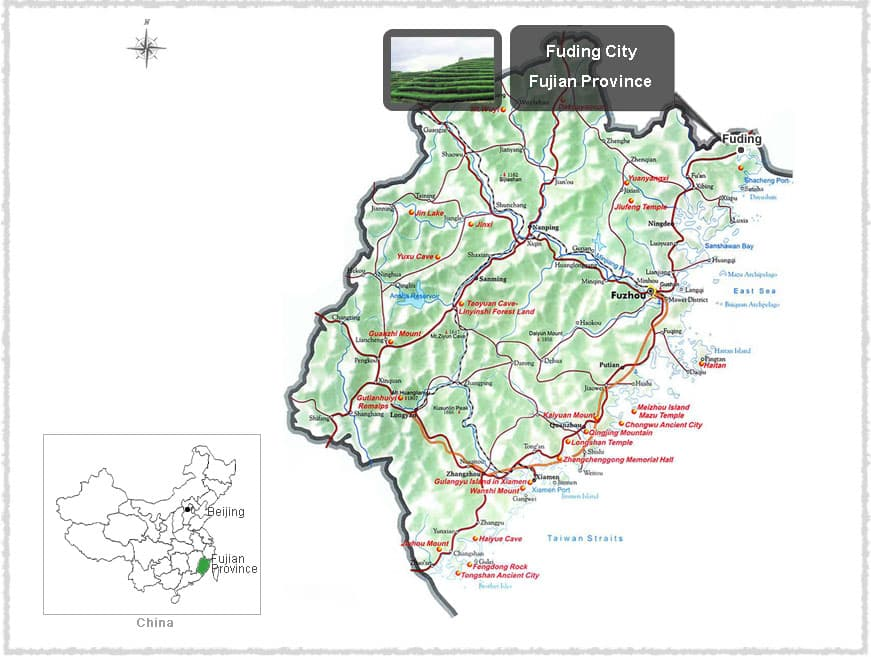Map of Fuding