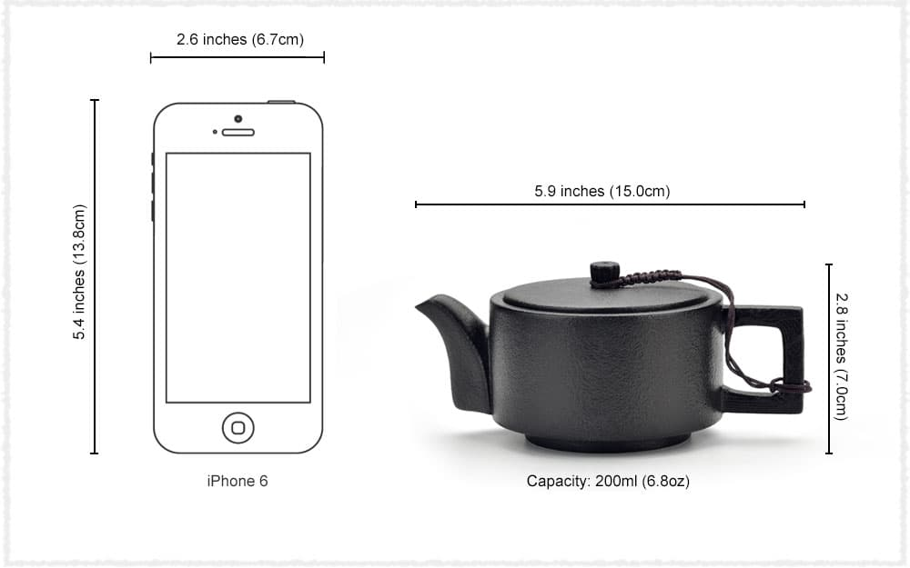 Tea Pot Dimensions