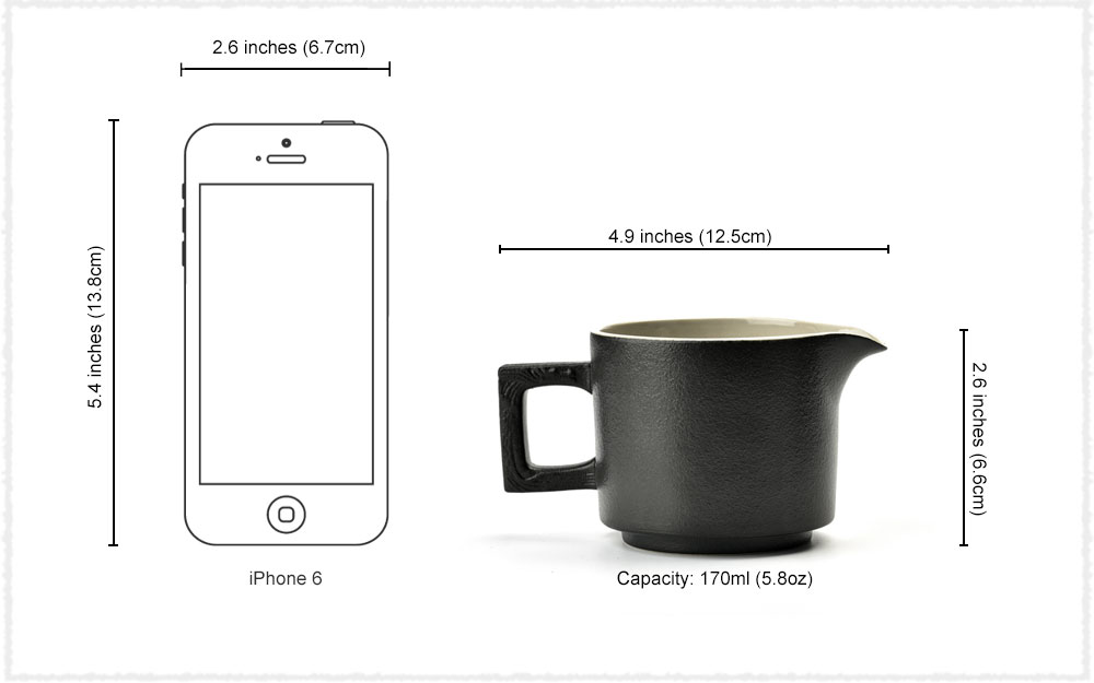 Tea Pitcher Dimensions
