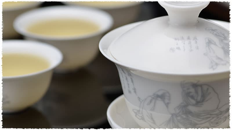 Chinese Bone china Tea Sage Gaiwan