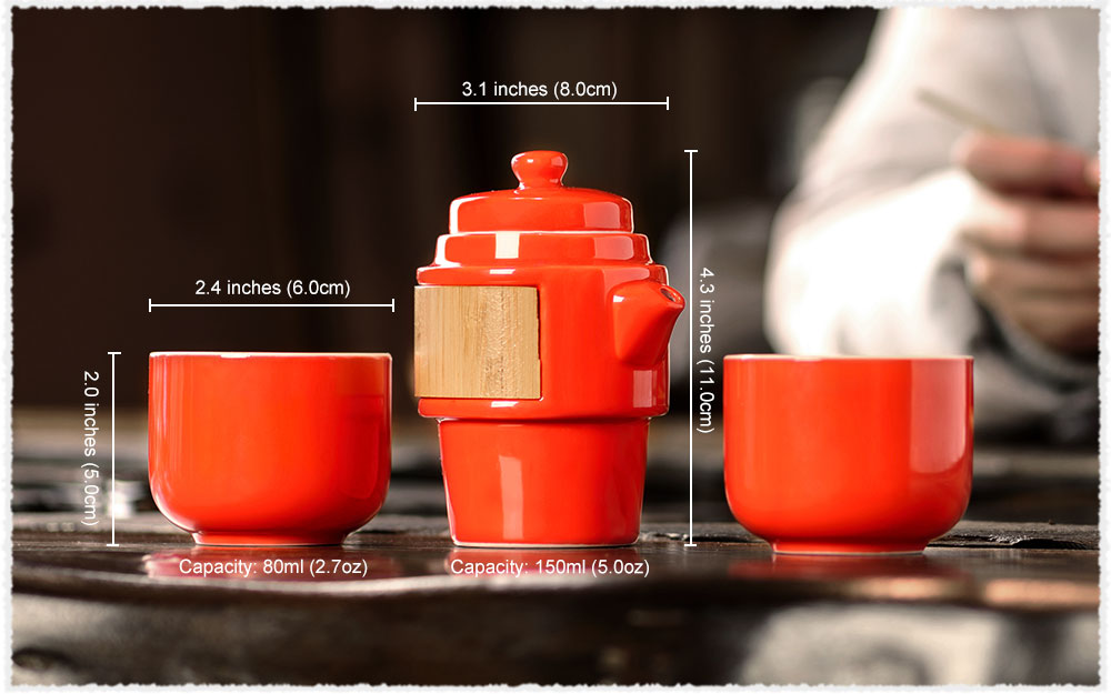 Portable Porcelain Kuai Ke Bei Travel Tea Set