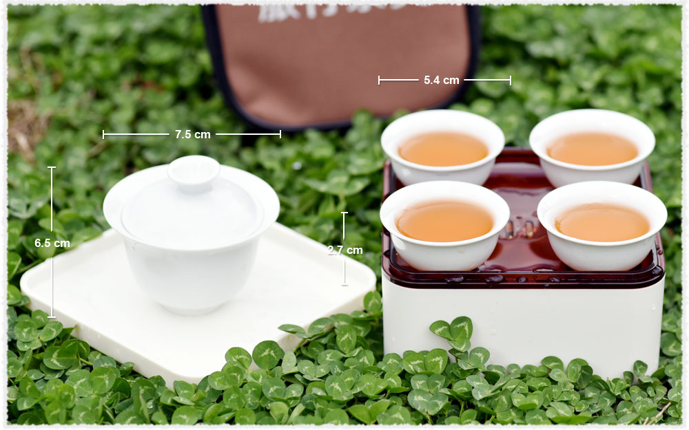 Travel Teaset Gaiwan Dimensions